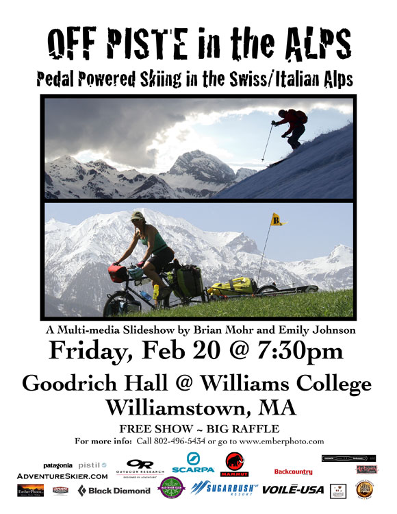 Off Piste in the Alps - Williams College, MA - 2/20/15