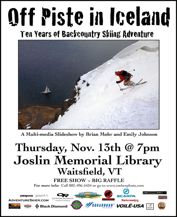 Thursday, Nov 13, 2014 - Joslin Library - Waitsfield, VT