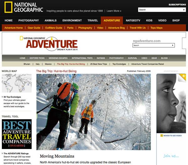 National Geographic Adventure - website - Feb 2010