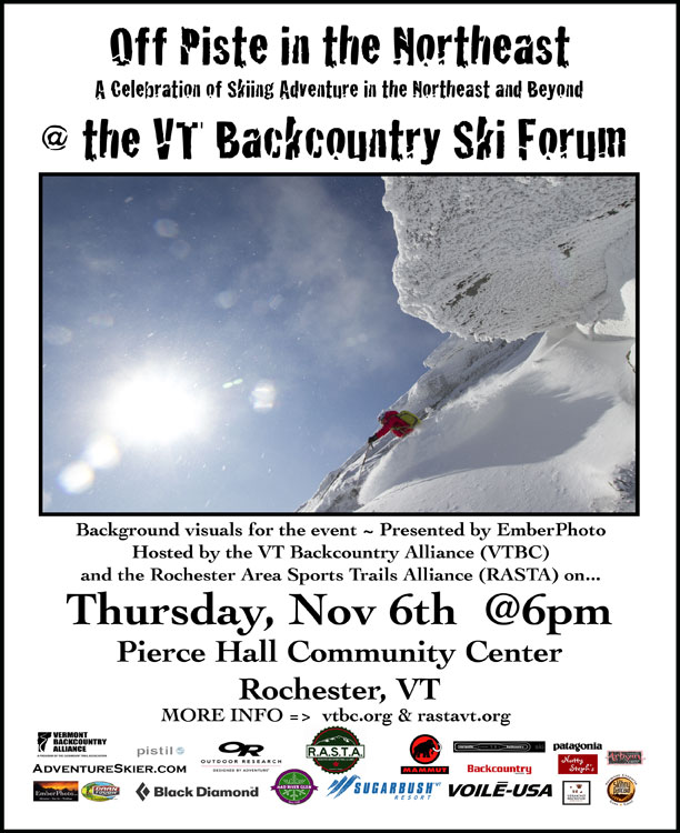 Thurs. Nov 6, 2014 - Pierce Hall Community Center - Rochester, VT