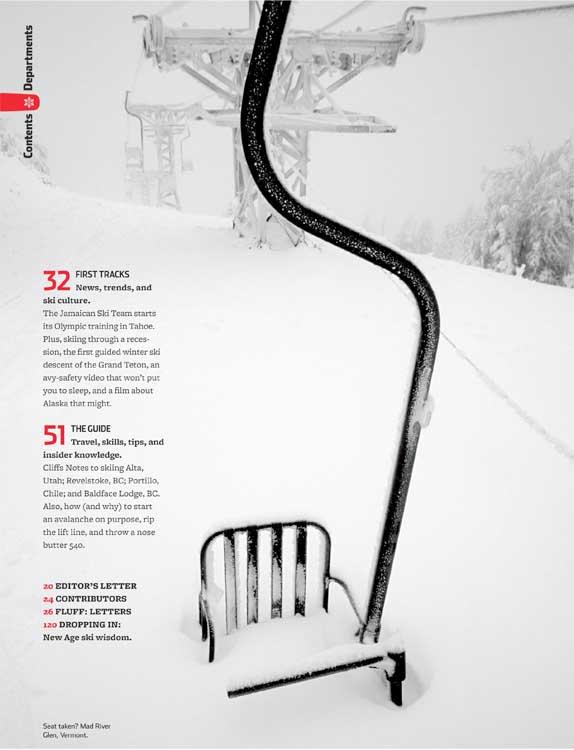 Skiing Magazine - Winter 2009