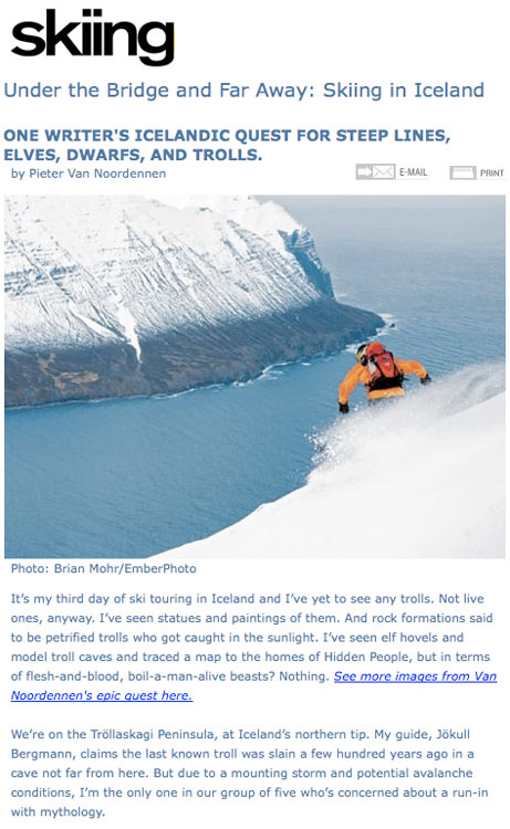 Skiing Magazine - Feature Photography - Wint 09