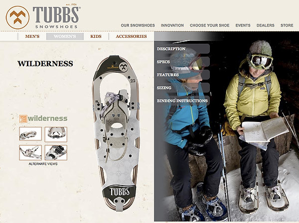 Tubbs Snowshoes - Marketing Photography - 2009